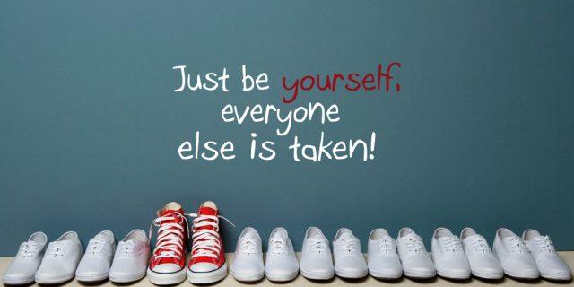 står ved dig selv som du er
