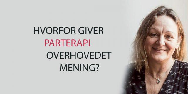 Et billede med overskrift af parterapeut Karin Koch fra København