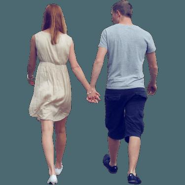 Et par der går på vejen