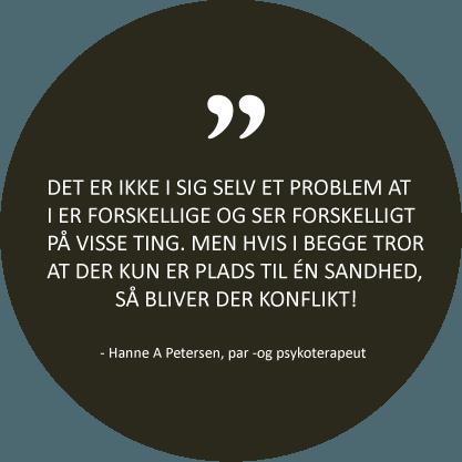 Citat fra psykoterapeut Hanne A Petersen - København SV
