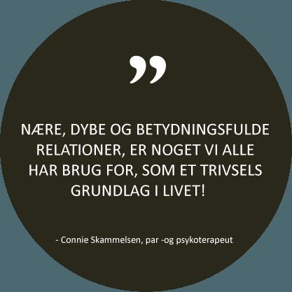 Citat fra psykoterapeut Connie Skammelsen - Parterapi i Aarhus